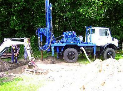 Arbeiten für Erdwärme in Niedersachsen